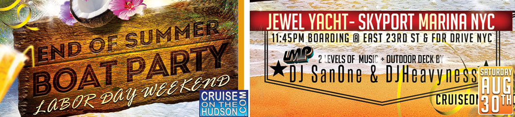 End Of Summer Midnight Dance Cruise NYC Jewel Yacht Skyport Marina NYC